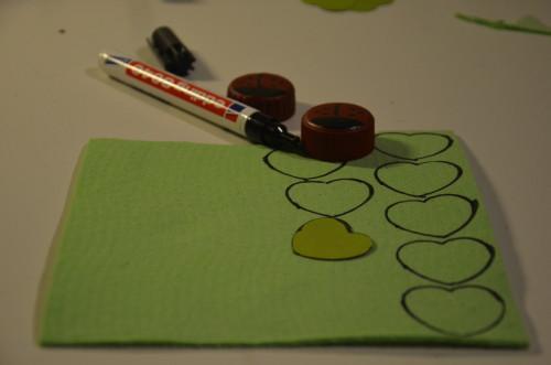 Herzen-skizzieren