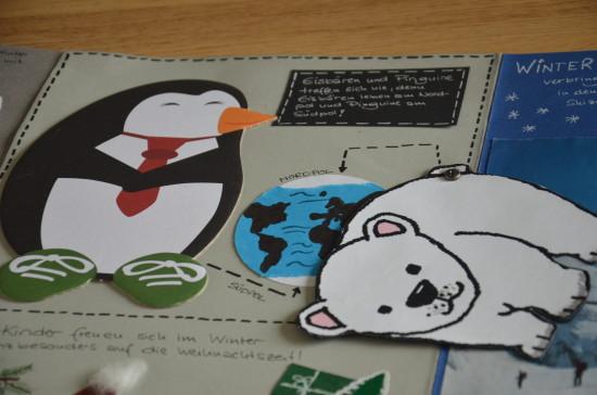 Lapbook_Winter-Pinguin-Eisbär-aufgeklappt