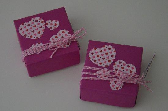 Papierboxen Rosa