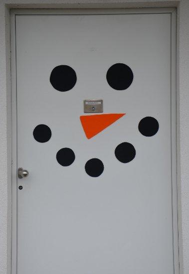 Schneemann-Tür