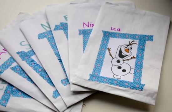Eiskönigin Einladung Papiertüte