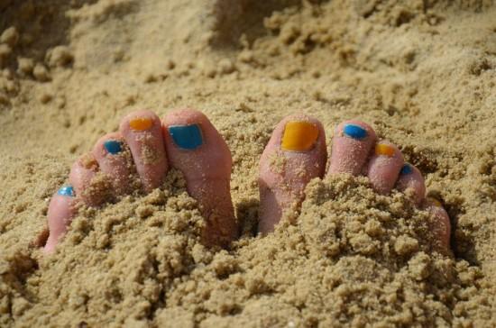 Zehen im Sand